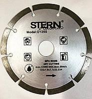 Отрезной алмазный диск по бетону и кирпичу Stern (штерн) сенгментированный, 125х22