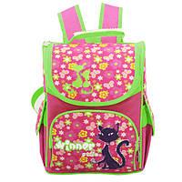 Школьный ранец для девочки 1-3 класс, Winner Stile, розовый с салатовым