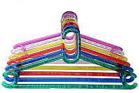 Вешалка (плечики ) пластиковые прозрачные цветные, 43 см