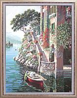 """Репродукция картины современной мировой живописи """"Вилла на озере Комо"""" 64 х 82 см"""