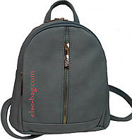 Женский рюкзак на два отдела голубой джинс, фото 1