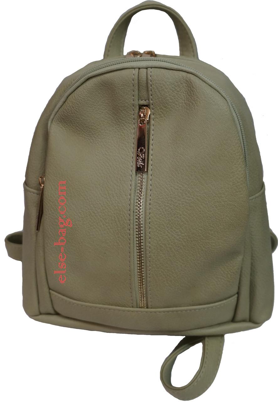 Женский рюкзак на два отдела фисташковый