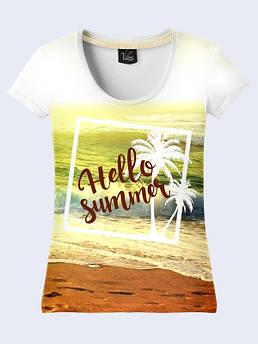 Женская футболка Привет лето