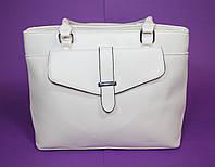 Оригинальная женская бежевая сумка