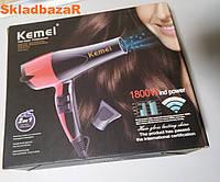 Профессиональный фен Kemei KM 8893, фен для волос с насадками, фото 1