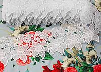 """Кружево макраме белое """"цветочек"""" (ширина 10см)"""