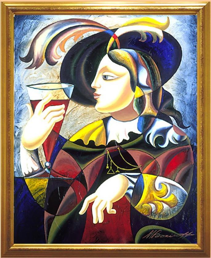 Репродукция картины современных художников «Тост»