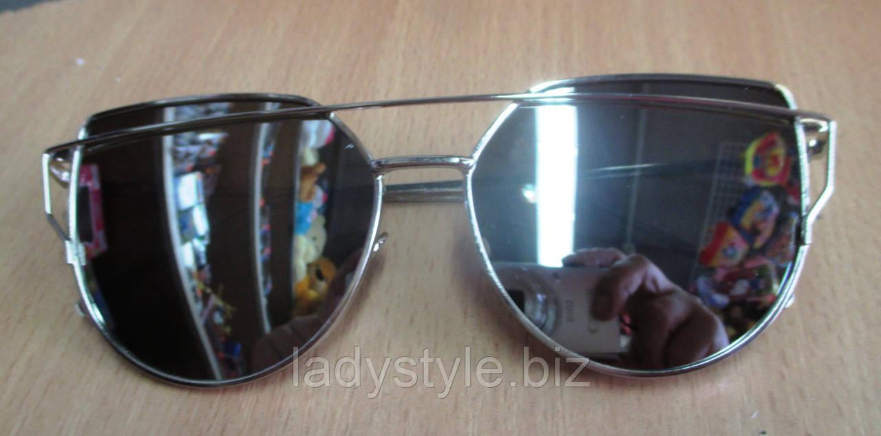 Очки солнцезащитные  серебристые от студии LadyStyle.Biz, фото 1