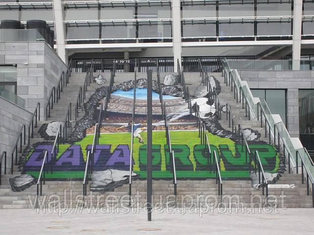 Объемная граффити реклама