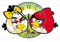 Часы настенные энгри бердз