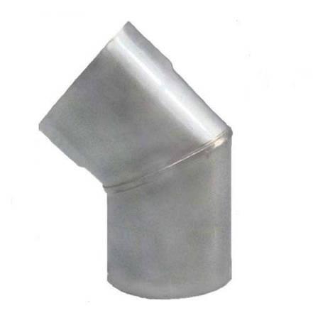 Колено дымоходное 45 AISI 304, фото 2
