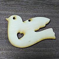 Пташка дерев'яна різьблена іграшка