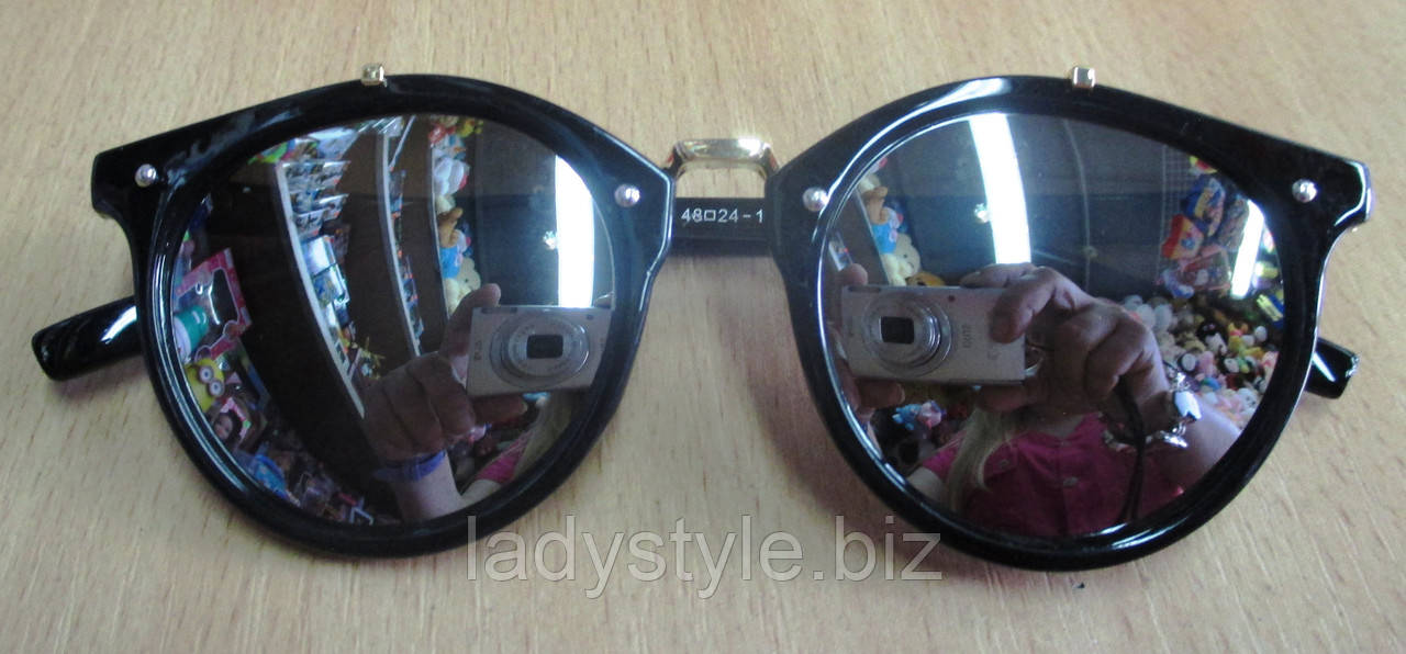 Очки солнцезащитные  классик  серебристые от студии LadyStyle.Biz