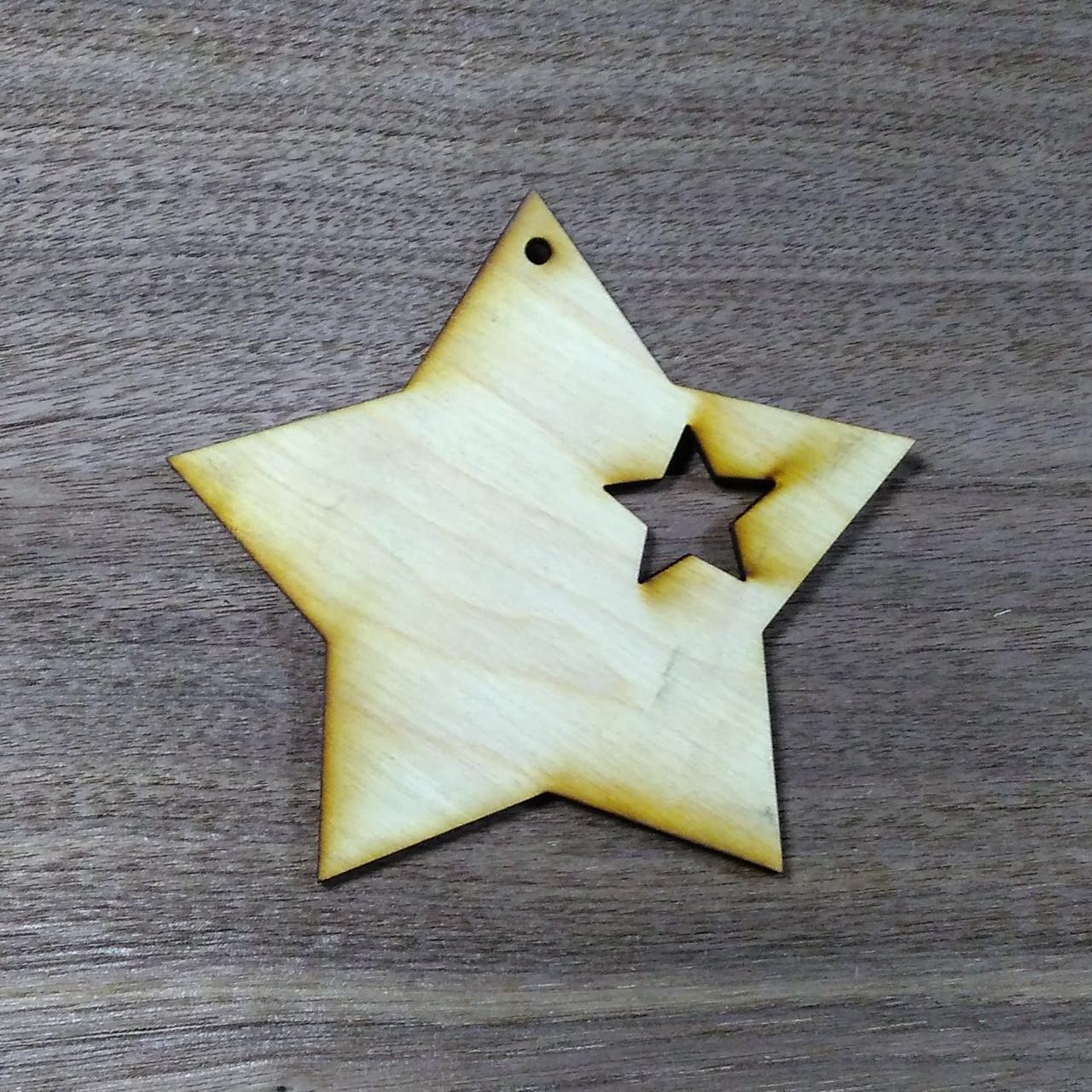 Звездочка деревянная игрушка