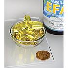 Swanson EFAs Pristine Norwegian Cod Liver Oil рыбий жир печень дикой трески (Норвегия)  60 капс, фото 2