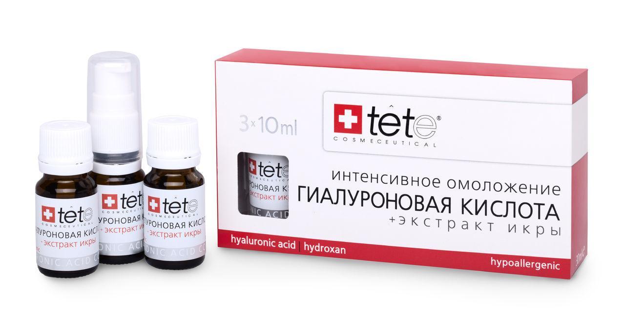 Tete Cosmeceutical  Гиалуроновая кислота + Экстракт икры  Hyaluronic Acid + Caviar Extract 3*10 мл