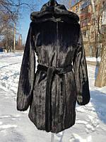 ТЁПЛАЯ ШУБА ПОД НОРКУ С КАПЮШОНОМ М-444