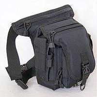 Тактическая сумка №10 набедренная (черная, хаки)