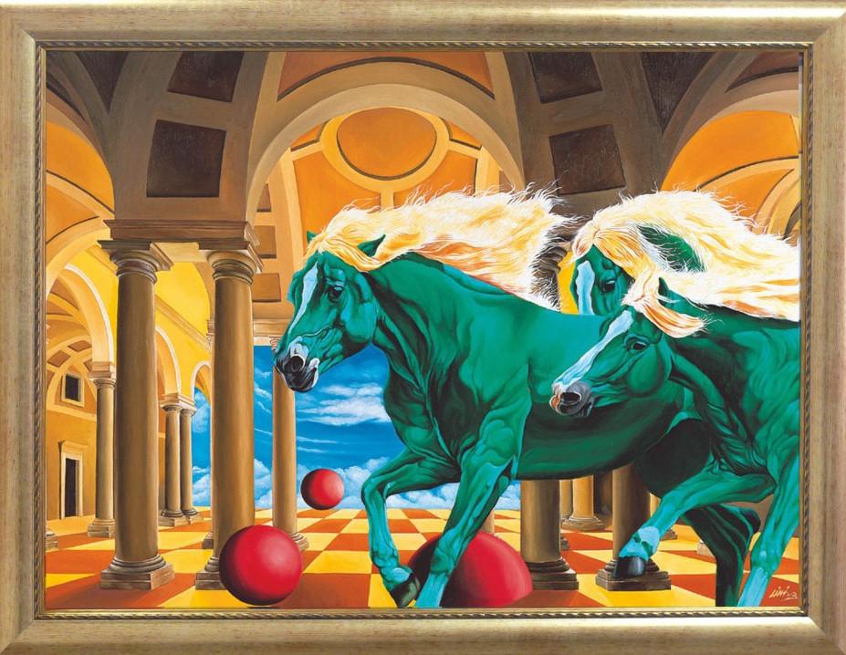 Репродукция картины современной мировой живописи «В суде» 65 х 85 см