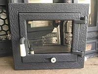 Дверцы для камина печи барбекю духовки 440*390 мм