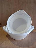 Тарелка глубокая одноразовая 500мл белая 100шт/уп ХРК