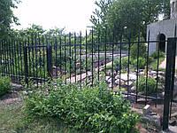 Сварной забор с кованными элементами, фото 1