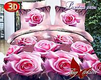 Комплект постельного белья Розовые розы с компаньоном (TAG-106е) евро