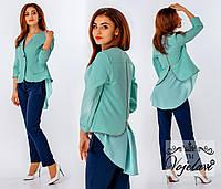 Пиджак женский стильный с шифоном. 5 цветов. Р-ры от 42-го до 54-го.