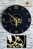 """Часы настенные """"Золотые годы ретро. Виниловая пластинка.""""."""