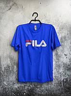 Мужская футболка Fila 🔥 (Фила) синий