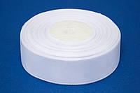 Лента репс 0.6 см, 23 м, № 01 белый