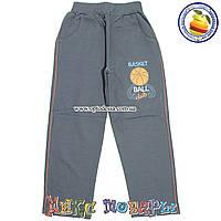 Темно серые спортивные брюки без манжета для мальчика от 7 до 10 лет (4577-4)