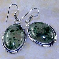 Серьги - муранское стекло в стерлинг серебре.