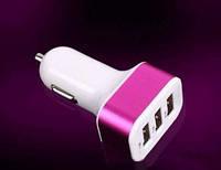 Сетевой адаптер CAR USB 3 USB, блок питания, переходник от прикуривателя