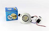 Врезная круглая точечная лампочка LED LAMP 3W (1401)