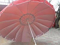 Зонт торговый  3,5м однотонный с серебряным напылением, клапанрм (16 спиц, пластик)