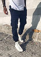 Джоггеры Blackzi мужские 8016-12 карго синие