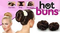 Резинки для волос Hot Buns (2 шт.), заколки для волос для пучка