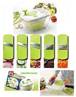 Овощерезка-мойка-сушка для овощей и зелени Salad All in one, салатница-овощерезка, универсальная овощерезка
