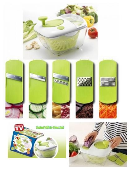 Овощерезка-мойка-сушка для овощей и зелени Salad All in one, салатница-овощерезка, универсальная овощерезка -  интернет-магазин «sGen» в Днепре