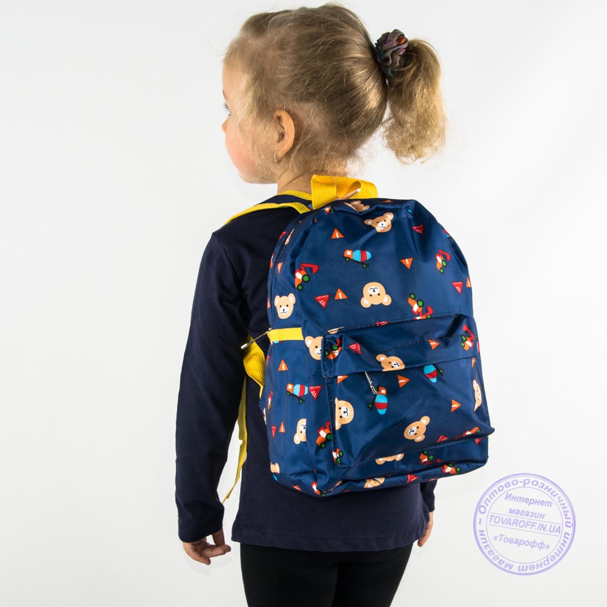 Детский рюкзак для мальчиков и девочек - синий - 132