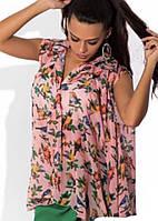 Модная стильная шифоновая блуза