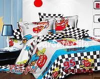 Полуторный набор постельного белья Ранфорс Тачки Маквин №3780 KRISPOL™
