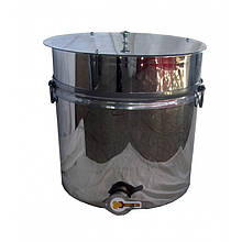 Бак (отстойник) для фасовки меда нержавеющий 55л кран алюминиевый