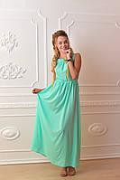 Платье длинное, М-1, цвет ментол, фото 1