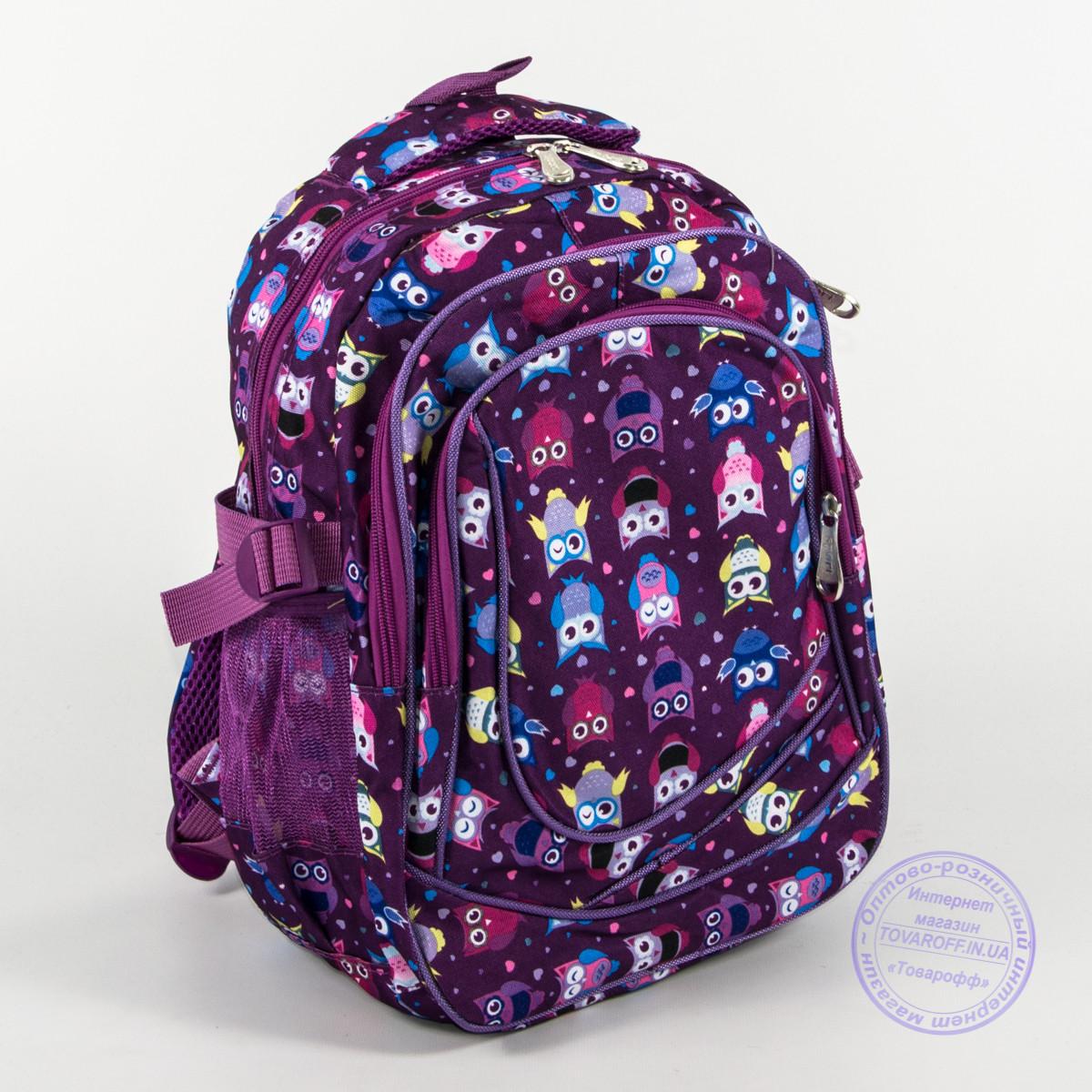 Школьный/прогулочный рюкзак для девочек с совами - сиреневый - 104