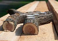 Подсвечник из дерева - веточка с корой