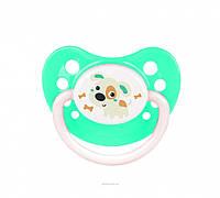 Пустышка силиконовая симметричная Canpol Babies (6-18 мес) Bunny & Company Ночная 1 шт.