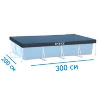 Тент для прямоугольных каркасных бассейнов Intex 28038, размер 300 х 200 см