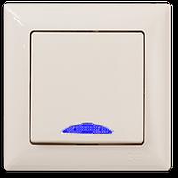 Выключатель с подсветкой Gunsan Visage крем